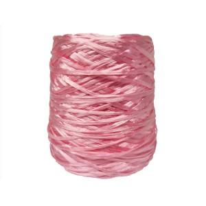 Ψάθα - Raffia Μονόχρωμη Γυαλιστερή Ροζ 03