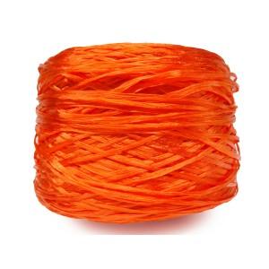 Ψάθα - Raffia Μονόχρωμη  Γυαλιστερή Πορτοκαλί 22