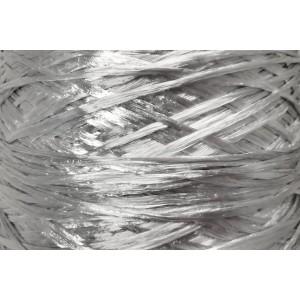 Ψάθα - Raffia Μονόχρωμη Γυαλιστερή Ασημί 16