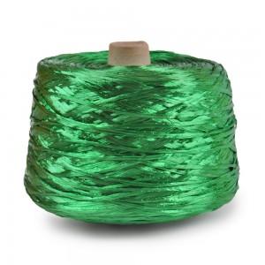 Ψάθα - Raffia Μονόχρωμη Γυαλιστερή Πράσινη 11