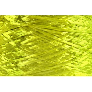 Ψάθα - Raffia Μονόχρωμη Γυαλιστερή Λάιμ 57