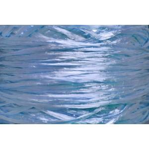 Ψάθα - Raffia Μονόχρωμη Γυαλιστερή Θαλασσί Ανοιχτό 02