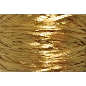 Ψάθα - Raffia Μονόχρωμη Γυαλιστερή Χρυσό 08