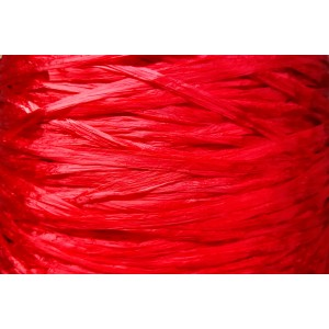 Ψάθα - Raffia Μονόχρωμη  Γυαλιστερή Κόκκινο 09