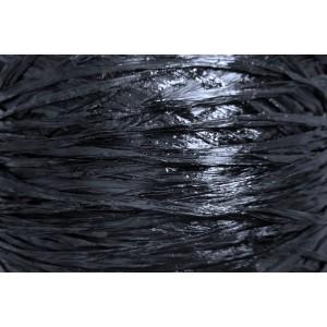 Ψάθα - Raffia Μονόχρωμη Γυαλιστερή Μαύρο 100