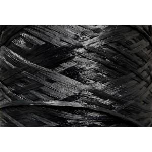 Ψάθα - Raffia Μονόχρωμη Ματ Μαύρο 100