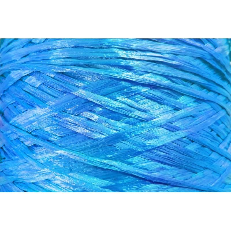 Ψάθα - Raffia Μονόχρωμη Ματ Γαλάζιο 06