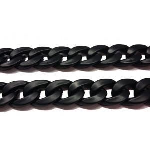 Αλυσίδα πλαστική 1 μέτρο μαύρη 5367